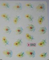 Наклейки на водной основе для дизайна ногтей №92