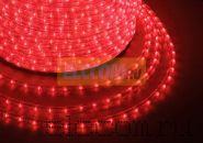 Дюралайт светодиодный, свечение с динамикой (3W), красный, 220В, диаметр 13 мм, бухта 100м, NEON-NIGHT