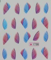Наклейки на водной основе для дизайна ногтей №1738