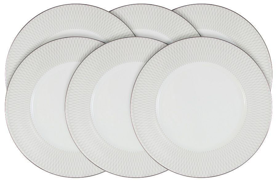 """Набор из 6 обеденных тарелок """"Бриз"""" 27 см"""
