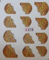 Наклейки на водной основе для дизайна ногтей №278