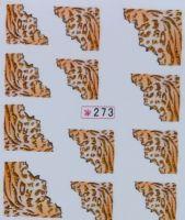 Наклейки на водной основе для дизайна ногтей №273