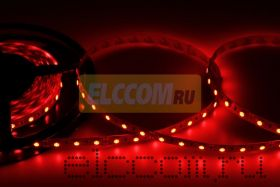 LED лента открытая, ширина 10 мм, IP23, SMD 5050, 60 диодов/метр, 12V, цвет светодиодов красный