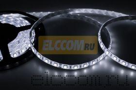 LED лента открытая, ширина 10 мм, IP23, SMD 5050, 60 диодов/метр, светоотдача 18 LM/1 LED, 12V, цвет светодиодов белый LAMPER