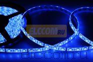 LED лента герметичная в силиконе, ширина 10 мм, IP65, SMD 5050, 60 диодов/метр, 12V, цвет светодиодов синий