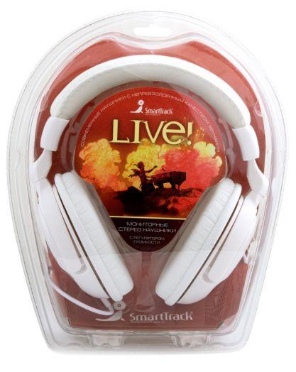 Мониторные наушники SmartBuy® LIVE! (бел) (4 метра)