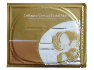 Маска для лица,с коллагеном и протеинами шелка crystal collagen Facial Bag mask