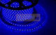 LED лента Neon-Night, герметичная в силиконовой оболочке, 220V, 10*7 мм, IP65, SMD 3528, 60 диодов/метр, цвет светодиодов синий, бухта 100 метров