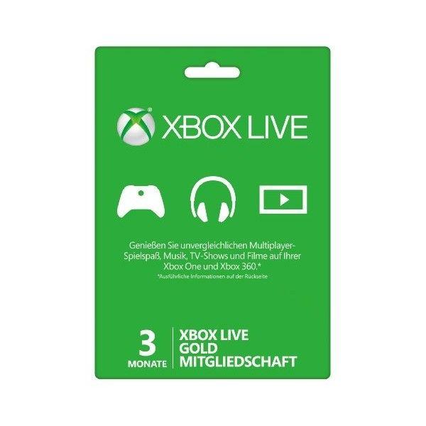 Карта оплаты XBOX LIVE 3 месяца
