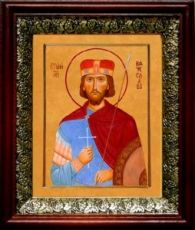 Вячеслав Чешский (19х22), темный киот