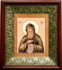 Антоний Печерский (21х24), киот со стразами