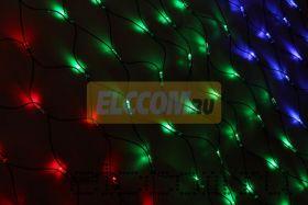 Гирлянда-сеть светодиодная 1х1,5м, свечение с динамикой, прозрачный провод, диоды мульти, NEON-NIGHT