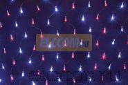 Гирлянда - сеть светодиодная 2,5 х 2,5м, свечение с динамикой, черный провод, красно/синие диоды NEON-NIGHT