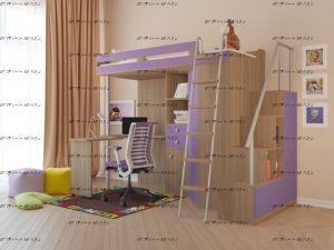 Кровать-чердак М-85 Астра + лестница-комод