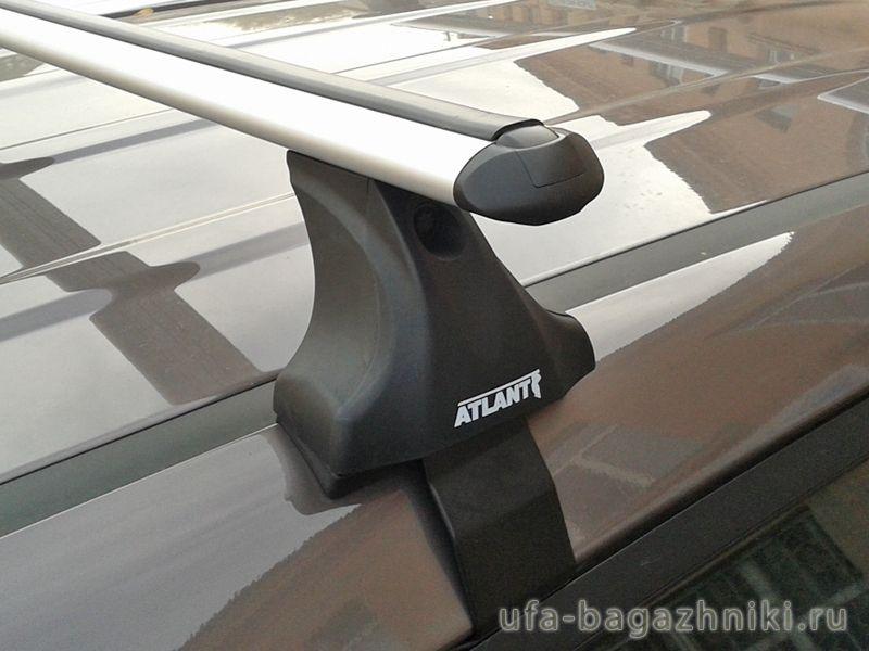 Багажник на крышу на Hyundai ix35 (без рейлингов), Атлант, аэродинамические дуги