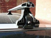 Багажник на крышу Volvo XC60 с интегрированными рейлингами, Атлант, крыловидные дуги