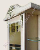 """Зеркальный шкаф для ванной с подсветкой """"Глазго Эндрю-85 береза"""""""