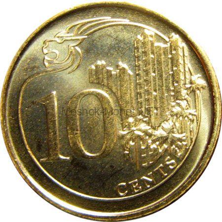 Сингапур 10 центов 2015 г.