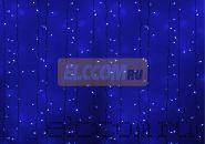 """Гирлянда """"Светодиодный Дождь"""" 2х1,5м, постоянное свечение, белый провод, 220В, диоды СИНИЕ, NEON-NIGHT"""