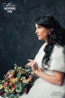 Меховые накидки для свадьбы: норковая накидка