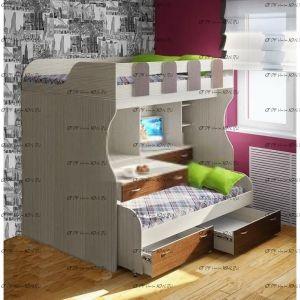 Кровать двухъярусная Фанки Кидз-19 СВ