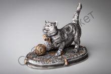 Кот с клубком статуэтка Россия