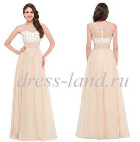 Кремовое вечернее платье