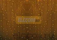 """Гирлянда """"Светодиодный Дождь"""" 2х1,5м, постоянное свечение,прозрачный провод, 220В, диоды ЖЁЛТЫЕ, NEON-NIGHT"""