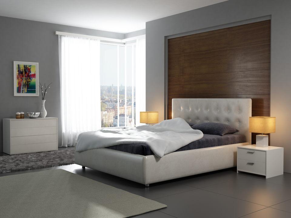 кровать Veda 1 элегантная двуспальная кровать из экокожи продажа