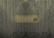 """Гирлянда """"Светодиодный Дождь"""" 2х3м, постоянное свечение, прозрачный провод, 220В, диоды ТЕПЛО-БЕЛЫЕ"""