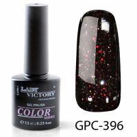 Цветной гель-лак с мерцанием Lady Victory, 7,3 ml GPC-396