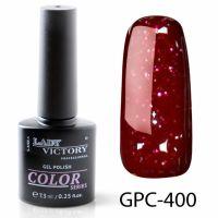 Цветной гель-лак с мерцанием Lady Victory, 7,3 ml GPC-400