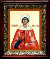 Алевтина Кесарийская (19х22), темный киот