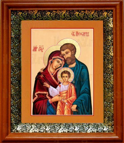 Святое Семейство (19х22), светлый киот