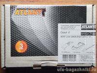 Багажник на крышy Seat Leon, Атлант, аэродинамические дуги, опора E