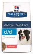 Hill's PD Canine d/d Allergy & Skin Care Salmon and Rice Диетический корм с лососем и рисом при аллергии (12 кг)