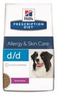 Hill's PD Canine d/d Allergy & Skin Care Duck and Rice Диетический корм с уткой и рисом при аллергии (12 кг)