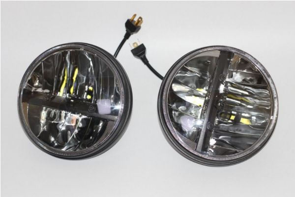 Светодиодные LED фары ближнего/дальнего света 7 дюймов (рефлектор) 2 шт.