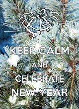 KEEP CALM and celebrate New Year