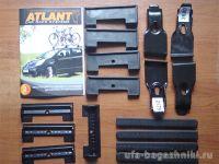 Багажник на крышу Nissan Teana, Атлант, аэродинамические дуги, опора Е