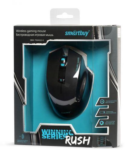 Мышь игровая Smartbuy 706 черная (беспроводная)