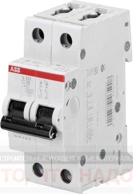 Автоматический Выключатель 16A 2Р ABB S202
