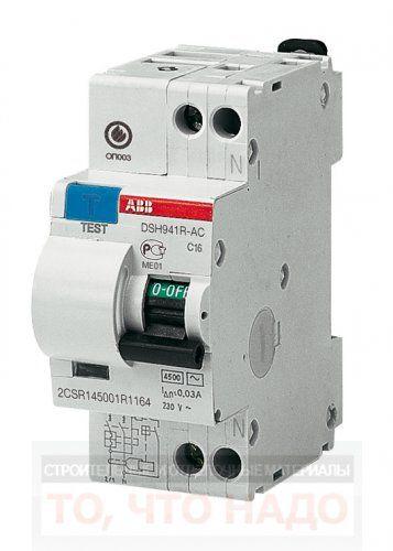 ДифАвтомат(АВДТ) 10А 30mA 1P+N ABB DSH941R