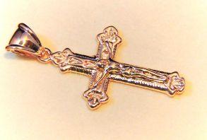 Позолоченный православный крест
