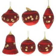 Набор из 6-ти новогодних украшений, H7см, H8см, H9 см , H10см, H12см (арт. 159215)