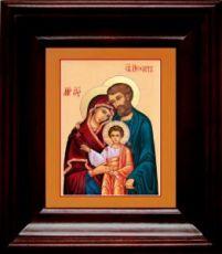 Святое Семейство (21х24), простой киот