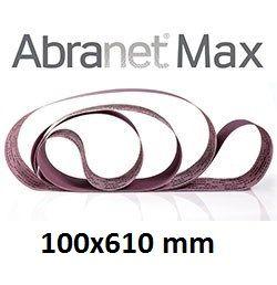 Лента шлифовальная ABRANET MAX 100x610mm P80 T-Joint, 10/Pack