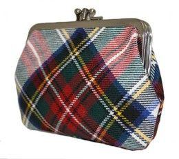 Шотландский кошелёк (клатч) тартан королевского клана Стюарт (парадный вариант)