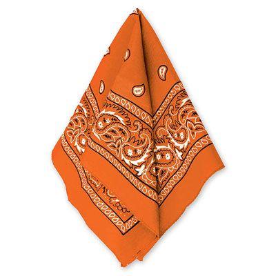 Бандана с рисунком оранжевая