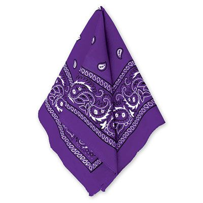 Бандана с рисунком фиолетовая